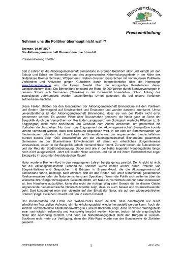 PDF (36 KB) - Binnendüne Bremen-Nord