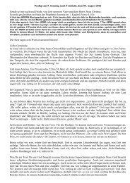 Predigt am 9. Sonntag nach Trinitatis, 5. August 2012