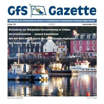Gazette 153:Gazette 140.qxd - Hochseesegeln mit der GfS