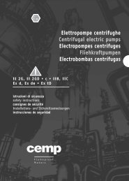 Elettropompe centrifughe Centrifugal electric pumps Electropompes ...
