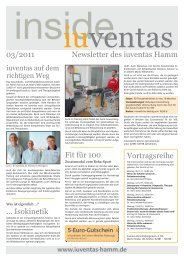 Newsletter inside iuventas 03/2011 - iuventas Hamm