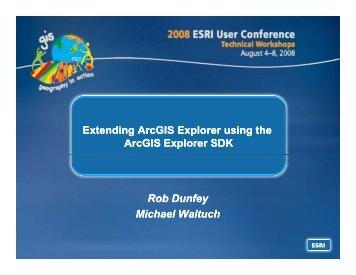 Extending ArcGIS Explorer using the ArcGIS Explorer SDK