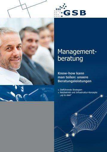 Management- beratung - GSB mbH & Co. KG