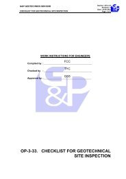 Checklist for Geotechnical Site Inspection - Gnpgeo.com.my
