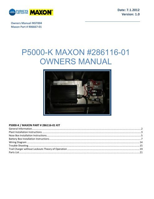 Maxon Liftgate Switch Wiring Diagram
