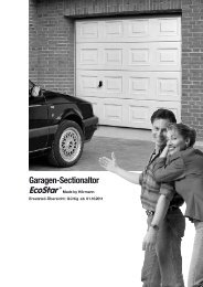Garagen-Sectionaltor EcoStar ® - Hörmann KG
