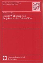 Soziale Wirkungen von Projekten in der Dritten Welt - Detlef Schwefel