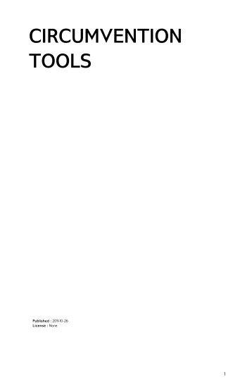 CIRCUMVENTION TOOLS - FLOSS Manuals