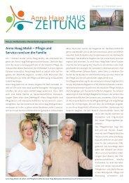 Nr. 19 | September 2010 (pdf) - Anna-Haag-Haus e.V.