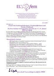 feministische Freauenarbeitsgemeinschaft der LINKEN - Lisa
