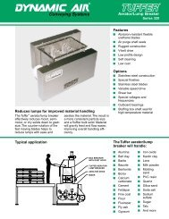 TUFFER® Aerator/Lump Breaker Series 329 - Dynamic Air Inc.