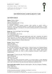 soutěžní filmy 42.mff karlovy vary - Mezinárodní Filmový Festival ...