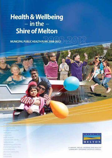 Municipal Public Health Plan - Melton City Council