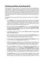 Der Konvent zur Reform - die Verfassung der EU - Examen ...