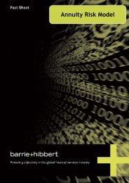 Annuity Risk Model - Barrie & Hibbert