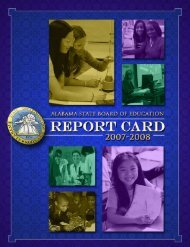 Report Card - Alabama Department of Education