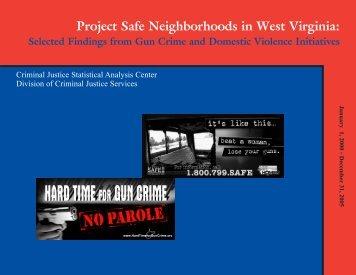 Project Safe Neighborhoods in West Virginia: Selected Findings ...