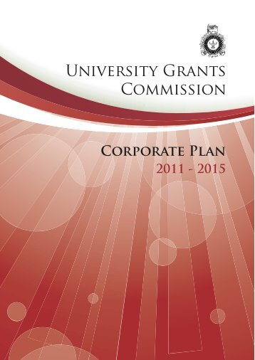 Corporate Plan 2011-2015 - University Grants Commission - Sri Lanka