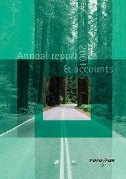 Annual report 2001 - Torotrak