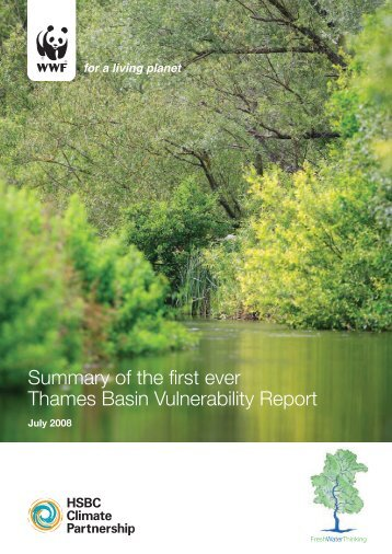 Summary of the first ever Thames Basin Vulnerability Report - UCL
