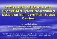 Parallel Multigrid Solvers using OpenMP/MPI Hybrid Programming ...