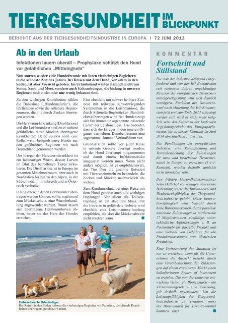 PDF Ausgabe 72 von Juni 2013 - Bundesverband für Tiergesundheit