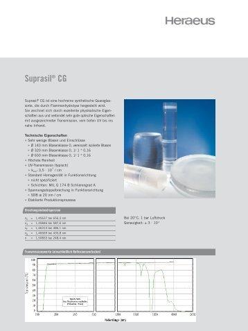 Suprasil® CG - Heraeus Quarzglas