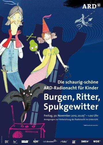 Burgen, Ritter, Spukgewitter - ARD-Radionacht für Kinder
