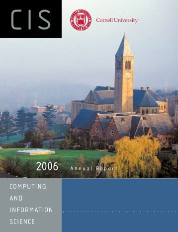 COMPUTING AND INFORMATION SCIENCE - Cornell University