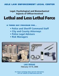 050938 AELE-Lethal Force - AELE's Home Page
