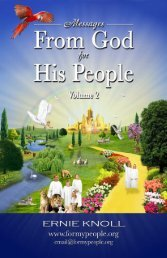 Messages from God for His People Volume 2 (PDF) - For My People ...