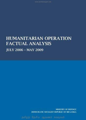 HUMANITARIAN OPERATION FACTUAL ANALYSIS