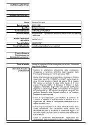 curriculum vitae - Comune di Messina