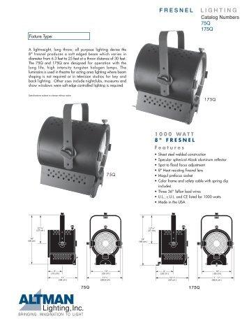 F R E S N E L L I G H T I N G - Altman Lighting  sc 1 st  Yumpu & Service u0026 Parts Manual 2005 .pdf format - Altman Lighting azcodes.com