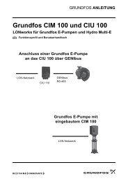 Anschluss einer Grundfos E-Pumpe an das CIU 100 über GENIbus ...