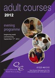 evening programme - Queen Elizabeth Sixth Form College