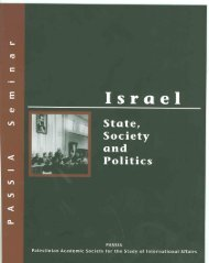 Israel: State, Society and Politics - PASSIA Online Store