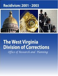Prisoners Released in 2001-2003 - West Virginia Division of ...
