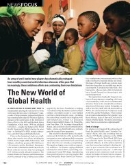The New World of Global Health