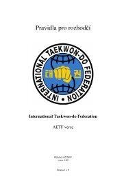 Pravidla pro rozhodčí - Český svaz Taekwon-Do ITF