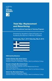 Total Hip: Replacement and Resurfacing - Stavros Niarchos ...
