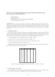 effect of the reference radio source selection on vlbi crf ... - SYRTE
