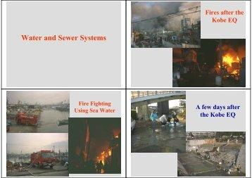 Damage to Kobe Water System