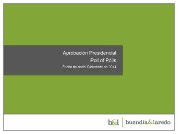 Poll Of Polls Noviembre 2014