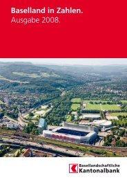 Ausgabe 2008, 25 Seiten - Statistik Baselland - Kanton Basel ...