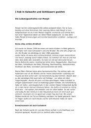 I hob in Kaleschn und Schlössern gwohnt - Arge für Obdachlose