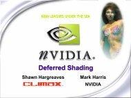Deferred Shading - NVIDIA Developer Zone