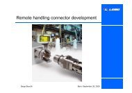 Remote handling connector development - Iter Industry