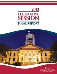 2013 Legislative Session - Florida Atlantic University Foundation, Inc.