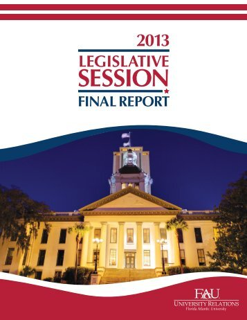 2013 Legislative Session - Florida Atlantic University Foundation, Inc.
